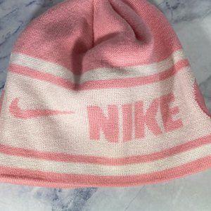Nike Swoosh Pink/White Knit Hat OS